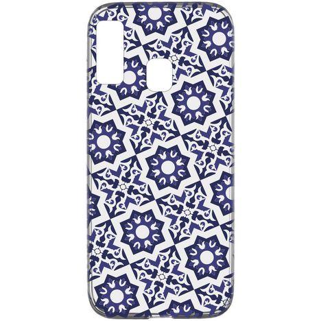 CELLULARLINE Coque de protection pour Samsung Galaxy A20E Transparent et bleu foncé Mosaïque