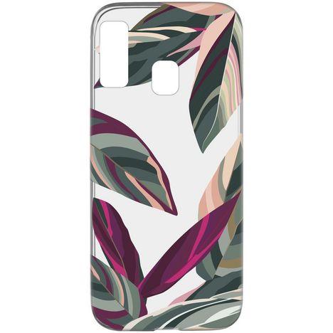 CELLULARLINE Coque de protection pour Samsung Galaxy A20E Transparent, vert et rose Forêt