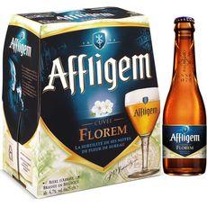 AFFLIGEM Bière blonde florem belge d'abbaye 6,6% bouteilles 6x25cl