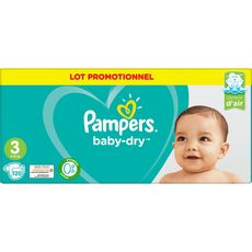 PAMPERS Baby-dry couches taille 3 (6-10kg) 120 couches