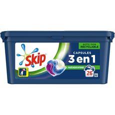 SKIP Lessive capsules 3en1 fraîcheur intense 26 lavages 26 capsules