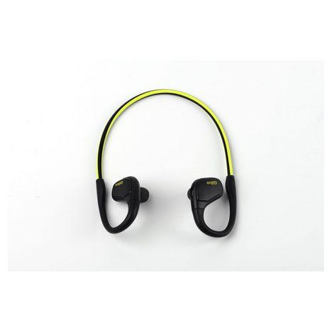 QILIVE Écouteurs sport Bluetooth - Noir/Jaune - 137388 Q.1713