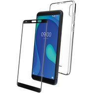 WIKO Lot Coque rigide + Protège-écran en verre trempé pour Wiko Y80