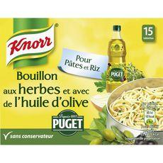 KNORR Knorr Bouillon aux herbes et à l'huile d'olive puget 150g 15 tablettes 150g