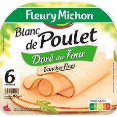 Fleury Michon Blanc poulet doré 6 tranches 180g