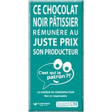 C'EST QUI LE PATRON? Tablette de chocolat noir pâtissier 1 pièce 175g