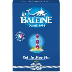 LA BALEINE Sel de mer fin iodé 1kg
