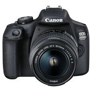 CANON Appareil photo Reflex EOS 2000D Noir + objectif EF-S 18-55 IS II + objectif EF 50 MM F / 1.8 STM