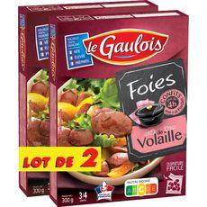 LE GAULOIS Foies de volaille confits lot de 2 2x300g