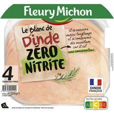 FLEURY MICHON Fleury Michon blanc de dinde tranche x4 -120g 4 tranches 120g