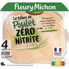 FLEURY MICHON Fleury Michon blanc de poulet en tranches x4 120g 4 tranches 120g
