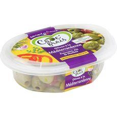 Croc'Frais olives dénoyautées à la méditerranéenne 200g