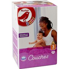 AUCHAN BABY Couches taille 3 (4-9kg) 160 couches