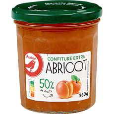 AUCHAN Confiture extra d'abricots 360g