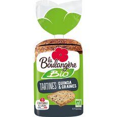 La Boulangère Tartines quinoa et graines bio 450g