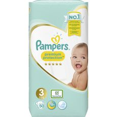 PAMPERS Premium protection couches taille 3 (6-10kg) 50 couches