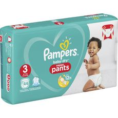 PAMPERS Baby-dry pants couches-culottes taille 3 (6-11kg) 44 couches