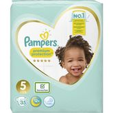 Pampers premium protect geant 11/25kg x35 taille5