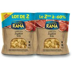 RANA Cappelletti fraîches aux oeufs jambon cru dont -60% sur le 2ème 2x250g