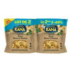 RANA Tortellini pesto basilic & pignons dont -60% sur le 2ème 2x250g