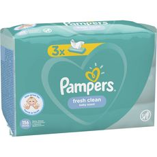 Pampers Fresh Clean lingettes nettoyantes pour bébé x156
