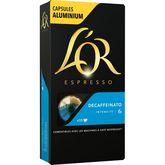 Maison du Café L'Or espresso decaffeinato n°6 capsules alu x10 -52g