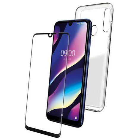 WIKO Lot Coque rigide + Protège-écran en verre trempé pour Wiko View 3
