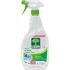 L'ARBRE VERT Spray nettoyant vitres & miroirs écologique menthe 740ml