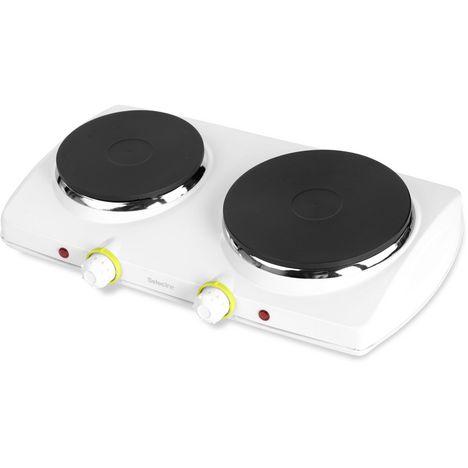 SELECLINE Double plaque de cuisson 145297 Blanc
