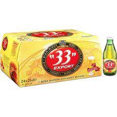 33 Export bière blonde 4,5° -24x25cl