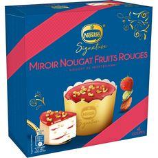 NESTLE Nestlé Coupe glacée nougat et fruits rouges 308g 4 coupes 308g