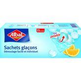 Albal Albal Sachets glaçons avec film pelable x15