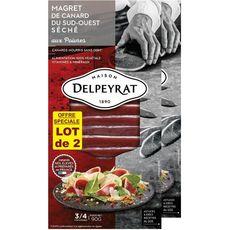 DELPEYRAT Magret de Canard du Sud-Ouest Séché aux Poivres 2x 3 à 4 personnes 2x90g