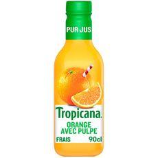 Tropicana pur jus d'orange avec pulpe 90cl