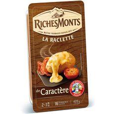 RICHESMONTS Richesmonts Fromage à raclette de caractère 420g 16 tranches 420g