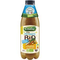 Créaline Potage aux légumes de saison bio réduit en sel 95cl