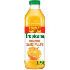 Tropicana Jus pure premium 100% orange sans pulpe 1,5l