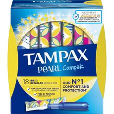 TAMPAX Compak Pearl tampons avec applicateur regular 18 tampons