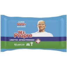 MR.PROPRE Lingettes nettoyantes multi-usages anti-bactériennes 32 lingettes