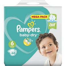PAMPERS Baby-dry couches taille 6 (13-18kg) 68 couches