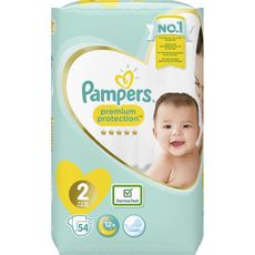 PAMPERS Premium protection couches taille 2 (4-8kg) 54 couches