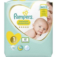 Pampers couches new baby 2/5kg x22 taille 1