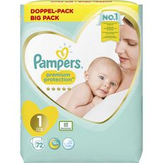 PAMPERS Premium protection mega pack couches taille 1 (2-5kg) 72 couches