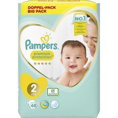Pampers couche new baby value plus 4/8kg x68 taille 2