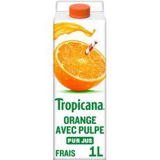 TROPICANA Pur jus d'oranges avec pulpe 1L