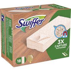 Swiffer Lingettes pour balai spéciales bois et parquet x18