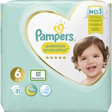 PAMPERS Premium protection géant couches taille 6+ (+13kg) 31 couches