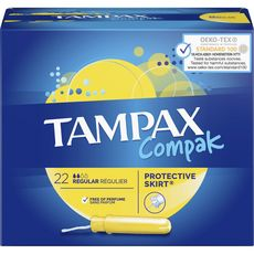 TAMPAX Compak tampons avec applicateur regular 22 tampons