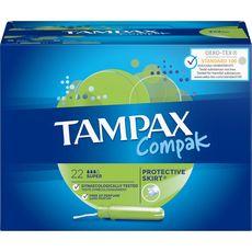 TAMPAX Compak tampons avec applicateur super 22 tampons