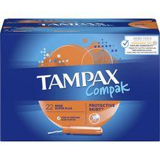 TAMPAX Compak tampons avec applicateur super plus 22 tampons